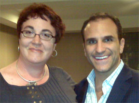 Here I am with author and marketing expert, Michael Port